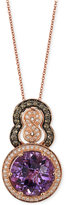 LeVian Le Vian Chocolatier® Amethyst (5-1/5 ct. t.w.) and Diamond (3/8 ct. t.w.) Pendant Necklace in 14k Rose Gold