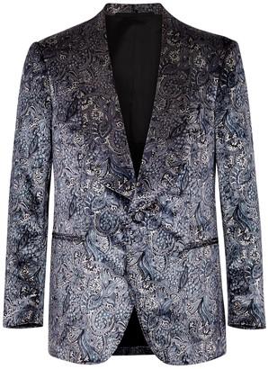 Frère Grey paisley-print velvet blazer