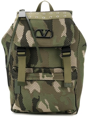 Valentino Camouflage Mesh backpack