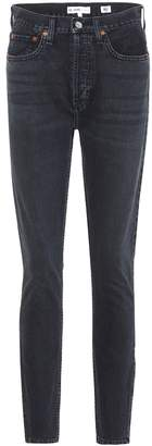 RE/DONE High Rise Ankle Zip skinny jeans