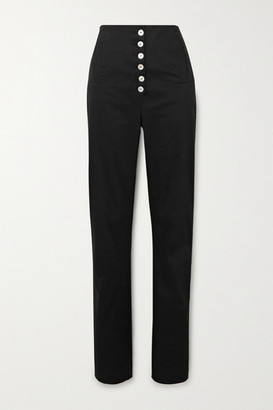 ÀCHEVAL PAMPA Palo Cotton-blend Twill Tapered Pants - Black