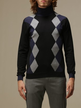 Sun 68 Turtleneck With Diamond Pattern