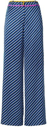Tory Burch Contrast-Binding Printed Pajama Pant