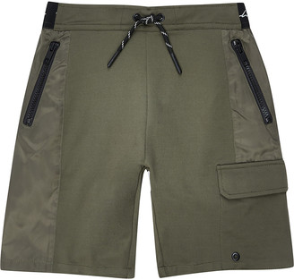 River Island Boys khaki nylon jersey blocked short