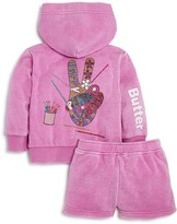 Butter Shoes Girls' Peace Sign Hoodie & Shorts Set