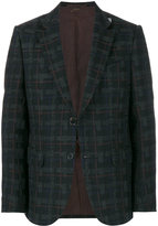 Ermenegildo Zegna checked long sleeve blazer
