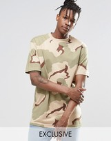 Reclaimed Vintage Oversized Camo T-Shirt