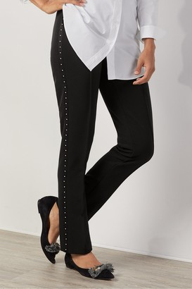 Petites Shapely Studded Pants