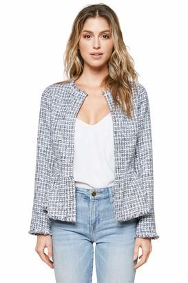 Sugar Lips SUGARLIPS Women's Tweed Peplum Jacket