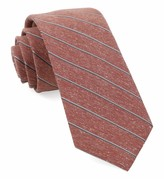 The Tie Bar Orange Pike Stripe Tie