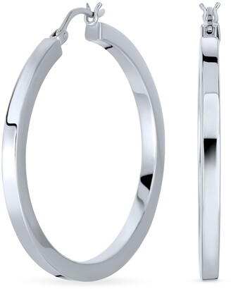 Bling Jewelry Sterling Silver Hoop Earrings