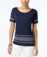 Tommy Hilfiger Reese Border-Print Top