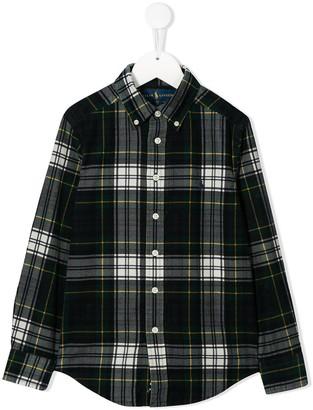 Ralph Lauren Kids TEEN plaid button up shirt