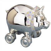 Reed & Barton Corp. Reed & Barton Piggy with Wheels Coin Bank