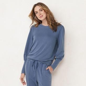 Lauren Conrad Women's Puff-Sleeve Sweatshirt