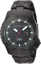 Momentum Men's 1M-DV76B0 Analog Display Japanese Quartz Black Watch