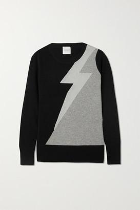 Madeleine Thompson Eros Metallic Intarsia Cashmere Sweater - Black