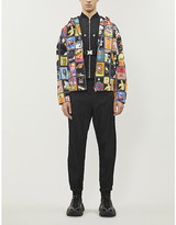 Prada Graphic-pattern hooded cotton jacket