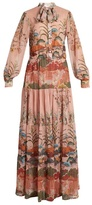 Stella Jean Posata Japanese floral-print chiffon dress