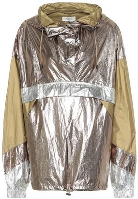 Etoile Isabel Marant Kizzy metallic rain jacket