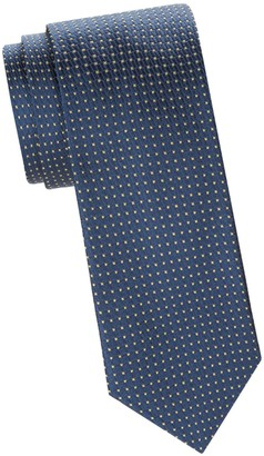 Saks Fifth Avenue Made In Italy Dotted Silk Tie