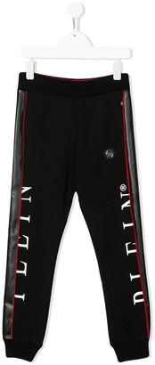 Philipp Plein Junior Side Panel Track Trousers