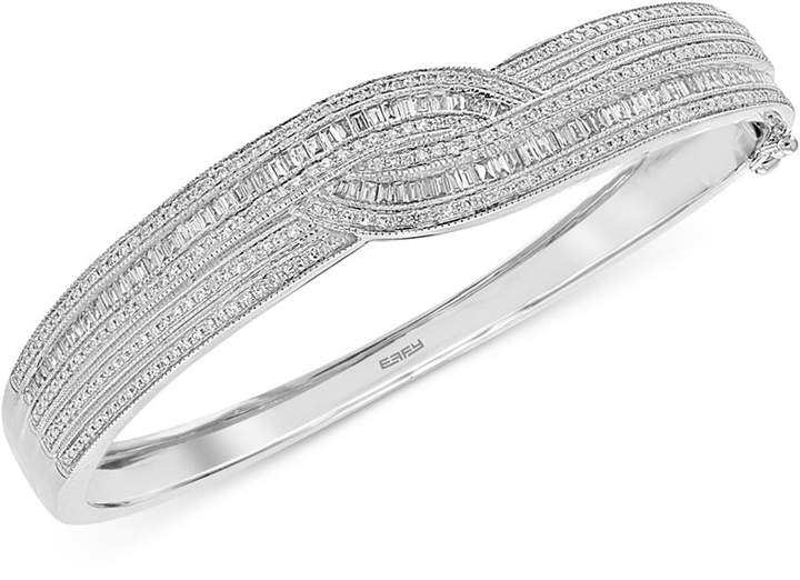 Effy Classique by Diamond Bangle Bracelet (1-3/4 ct. t.w.) in 14k Gold & White Gold
