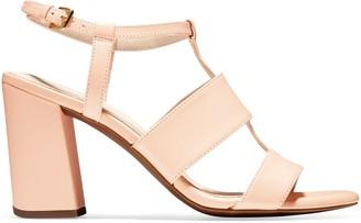 Cole Haan Cherie T-Strap Stack Heel Sandals