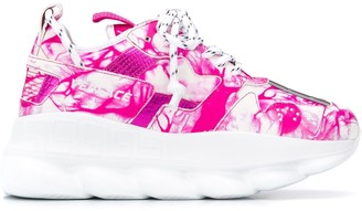 Versace Chain Reaction abstract-print sneakers