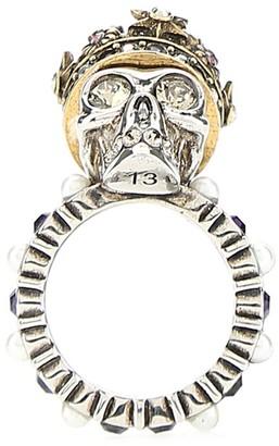 Alexander McQueen Skull Crowned Embellished Ring
