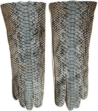 Prada Beige Python Gloves
