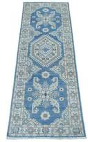 Blue Area One-of-a-Kind Runner Rockoff Hand-Knotted 2' x 5'7 Rug Bloomsbury Market