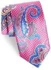 mens david donahue paisley floral silk tie