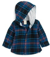 Infant Boy's Tucker + Tate Hooded Flannel Shirt