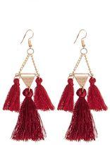 Quiz Wine Tassel Earrings