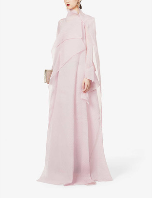 Roland Mouret Panksa asymmetric silk-blend gown