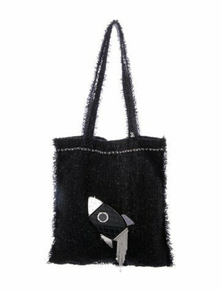 Chanel 2017 Shopping In Fabrics Tote Black