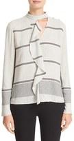 Derek Lam 10 Crosby Women's Ruffle Trim Stripe Shirt