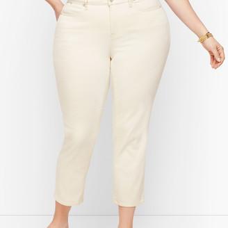 Talbots Straight Leg Crop Jeans - White & Vanilla