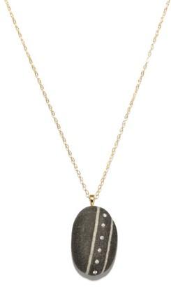 Cvc Stones Puntini Diamond & 18kt Gold Pendant Necklace - Black White