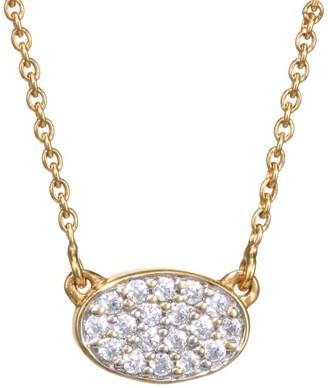 ginette_ny 18K Rose Gold & White Diamond Mini Sequin Pendant Necklace