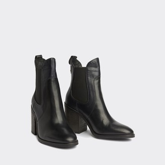 Tommy Hilfiger Leather Western Ankle Boot