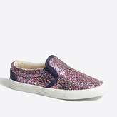 J.Crew Factory Girls' glitter slip-on sneakers