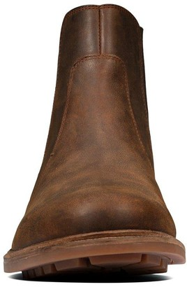 Clarks Foxwell Top Leather Boots - Beeswax