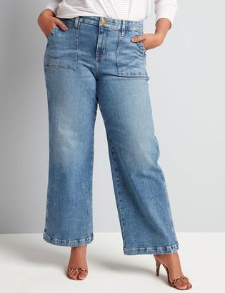 Lane Bryant Signature Fit Wide Leg Jean - Medium Wash