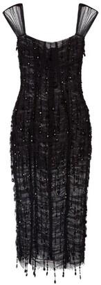 Dolce & Gabbana Semi-Sheer Lace Midi Dress