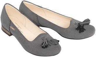 ZAPATO Women's Ballet Flats kropki - Gray Smooth Tassel-Accent Leather Flat - Women
