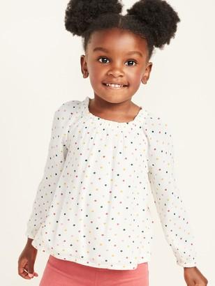 Old Navy Polka-Dot Crinkle-Crepe Top for Toddler Girls