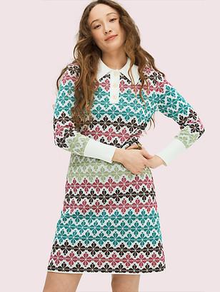 Kate Spade Spade Flower Sweater Dress