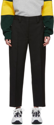 Acne Studios Black Summer Wool Tapered Trousers